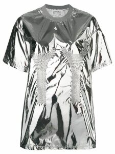 Maison Margiela metallic embroidered detailed top - SILVER