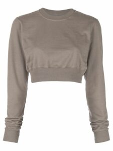 Rick Owens DRKSHDW cropped crewneck sweatshirt - Brown