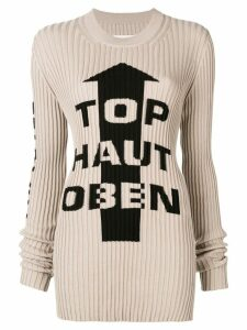 Maison Margiela Cartoon-print jumper - NEUTRALS