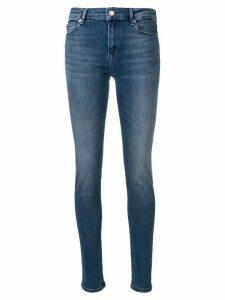 Love Moschino logo embellished skinny jeans - Blue