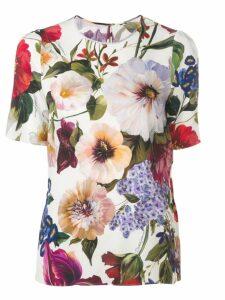 Dolce & Gabbana floral print blouse - White