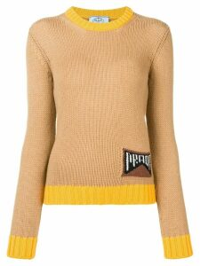 Prada logo knit jumper - Brown