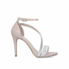 Carvela Libertine Jewel - Nude Embellished Stiletto Heel Sandals