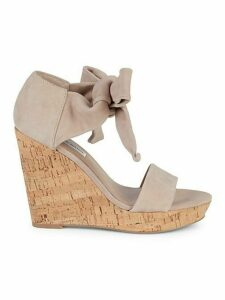 Mckenna Cork & Suede Platform Wedge Sandals