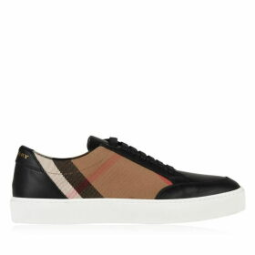 Burberry Check Leather Trainers
