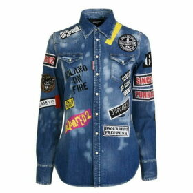 DSquared2 Badge Denim Shirt