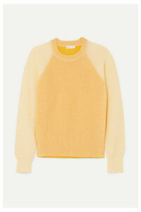 Stine Goya - Jack Color-block Open-knit Sweater - Pastel yellow