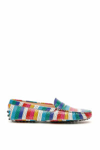 Tods Multicolor Striped Loafers