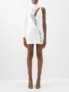 Haider Ackermann - Salinas Cashmere-blend Oversized Cardigan - Womens - Blue White