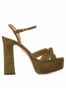 Aquazzura Baba platform sandals - Green