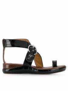 Chloé Wave flat sandals - Black