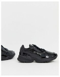 adidas Originals Outloud Falcon trainers in all black