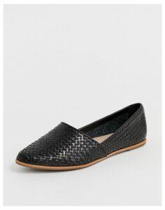 ALDO Blanchette leather flat shoes in black