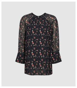 Reiss Ella - Floral Blouse in Multi, Womens, Size 14