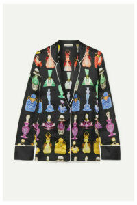Mary Katrantzou - Tarot Printed Satin-twill Shirt - Black
