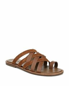 Vince Women's Piers Leather & Suede Strappy Slide Sandals