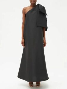 Givenchy - Pleated Tie Silk Crepe De Chine Blouse - Womens - Blue