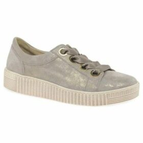 Gabor  Wright Womens Casual Lace Up Shoes  women's Shoes (Trainers) in Beige