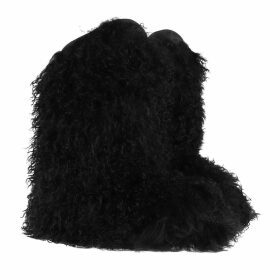 Saint Laurent Boots & Booties - Furry Patch Snowboot Black - black - Boots & Booties for ladies