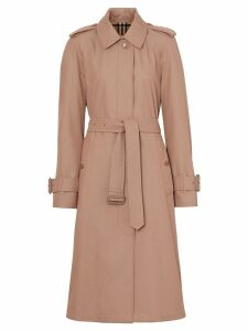 Burberry tropical gabardine belted car coat - Pink