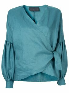Ginger & Smart Serenity wrap blouse - Green