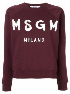 MSGM logo print sweatshirt - Red