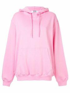 MSGM logo print hoodie - Pink