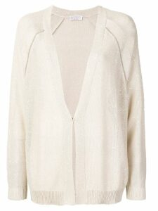 Brunello Cucinelli long line sequins cardigan - NEUTRALS
