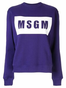 MSGM crewneck sweatshirt - Purple