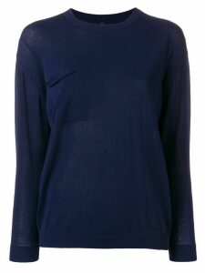 Sara Lanzi crew neck jumper - Blue
