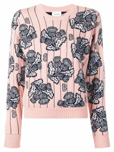 Barrie floral knitted jumper - PINK