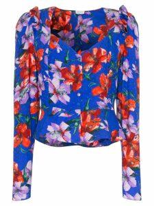 Magda Butrym evora floral print silk blouse - Blue