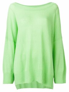 Ermanno Scervino cashmere logo jumper - Green