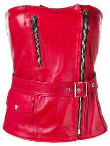 Manokhi leather bodice top - Red