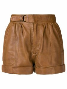 Zadig & Voltaire Fashion Show short leather shorts - Brown
