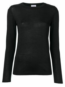 Brunello Cucinelli long-sleeve fitted sweater - Black
