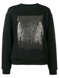 Givenchy sequin patch sweater - Black