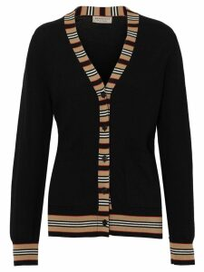 Burberry Icon stripe cardigan - Black