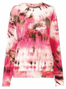 MSGM tie-dye sweatshirt - PINK