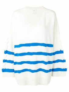 Barrie cashmere oversized sweater - White