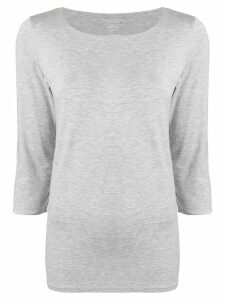 Majestic Filatures cropped sleeve top - Grey