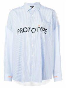 Omc 'Prototype' pinstripe shirt - Blue