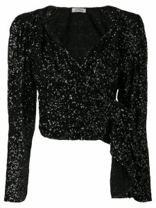 The Attico embellished cropped top - Black