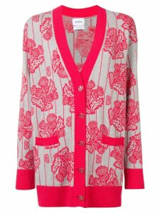 Barrie floral knitted cardigan - PINK