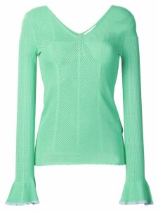 See By Chloé embroidered long-sleeve blouse - Green