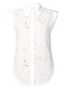 See By Chloé floral embroidered sleeveless blouse - White