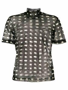 Ssheena sheer printed T-shirt - Black