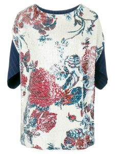 Antonio Marras floral embroidered top - NEUTRALS