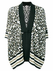 Antonio Marras leopard print cardigan - Black