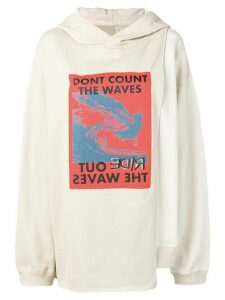 Ambush graphic print oversized hoodie - NEUTRALS